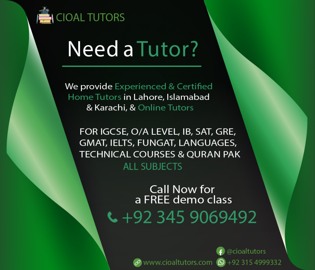 Home tuition in Bahria Town Lahore