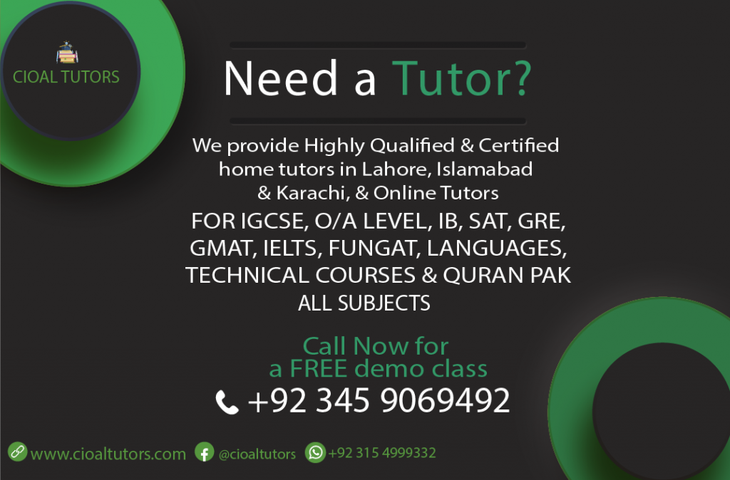 Home tuition in Johar Town Lahore
